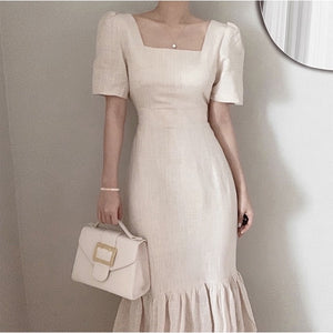 Open image in slideshow, Emily Square Neck Long Dress