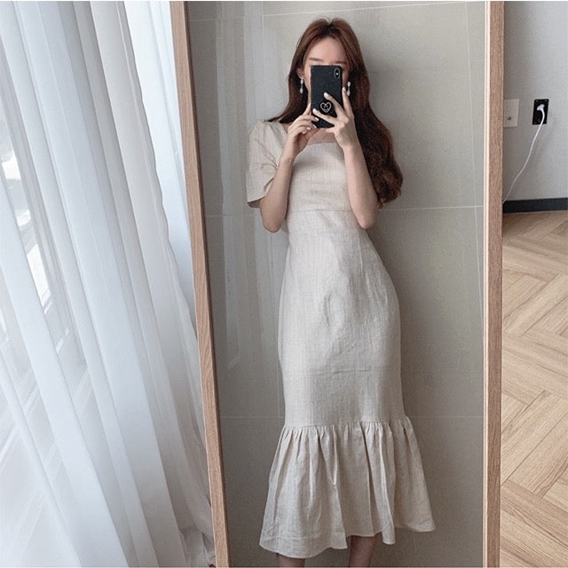 Emily Square Neck Long Dress