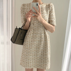 Open image in slideshow, Victoria Tweed Short Dress