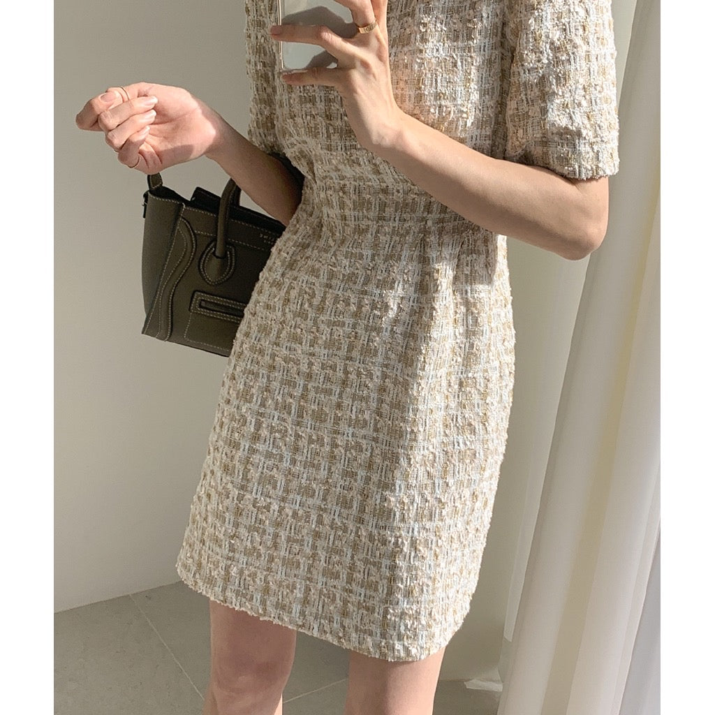 Victoria Tweed Short Dress