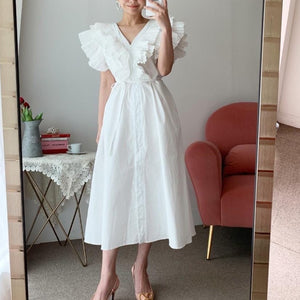 Open image in slideshow, Nora Ruffle A-Line Long Dress