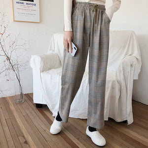Open image in slideshow, Savannah Checkered Straight Relax Pants