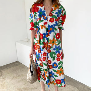 Open image in slideshow, Paisley Printed Loose Style Dress
