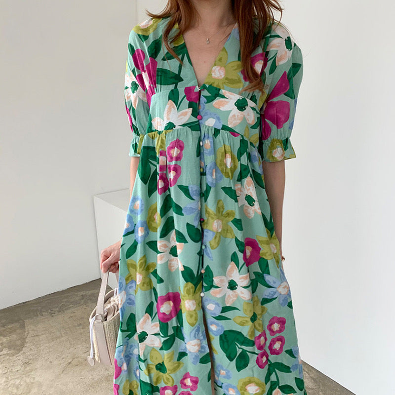 Paisley Printed Loose Style Dress