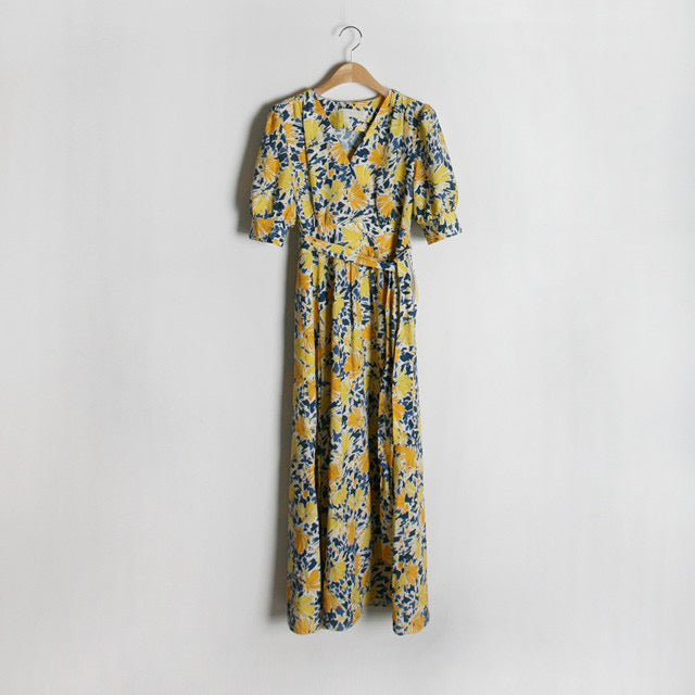 Skylar Wrap Around Floral Long Dress