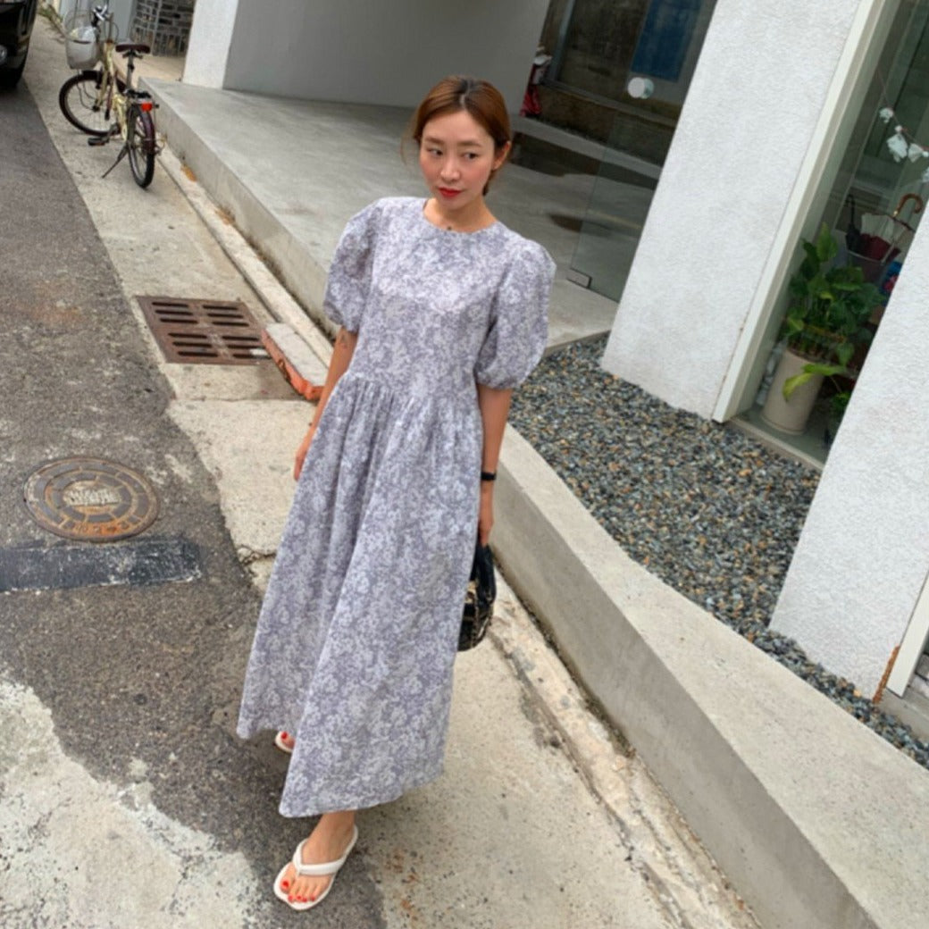 Kennedy Printed Long Loose Dress