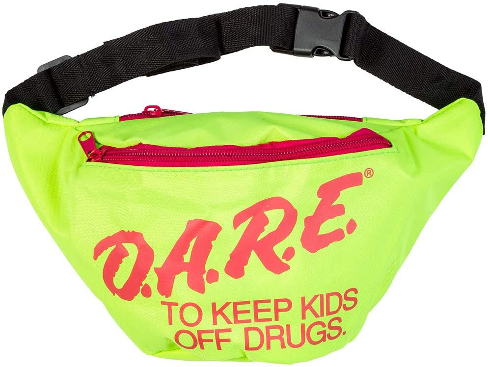 Neon Retro DARE Fanny Pack Waist Bags with Adjustable Waist Straps - United Festival Outfitters