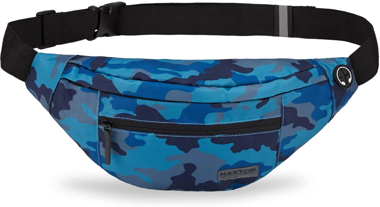 Maxtop Funpack Large Fanny Pack with 4-Zipper Pockets - United Festival Outfitters