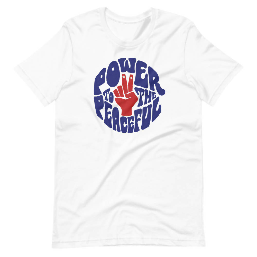 Power to the Peaceful Premium Unisex Cotton Tee - United Festival Outfitters
