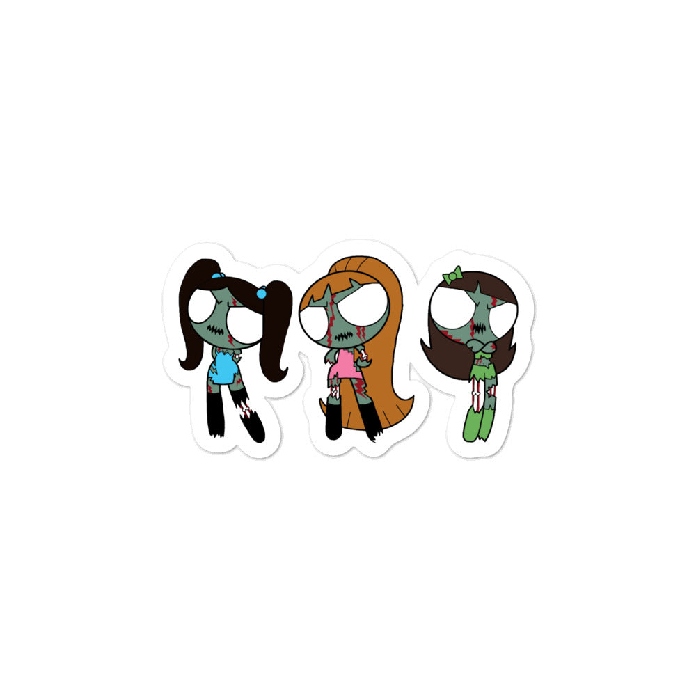 Zombiepuff Girls Sticker