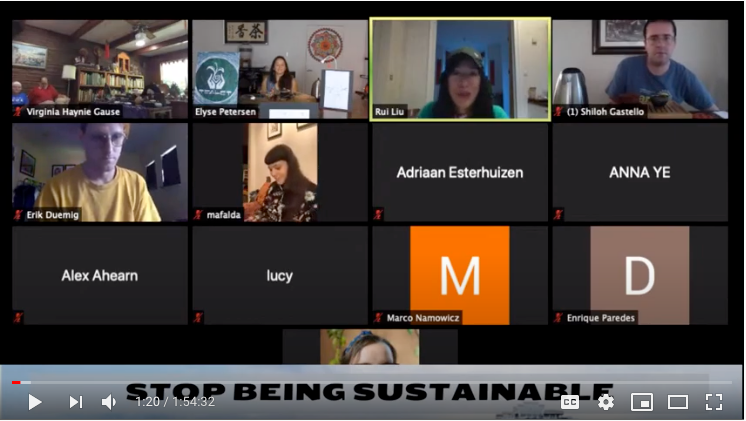Friday, August 14, 2020 - STOP BEING SUSTAINABLE