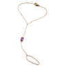 Private Sale Emerald-cut Hand Chain | Amethyst