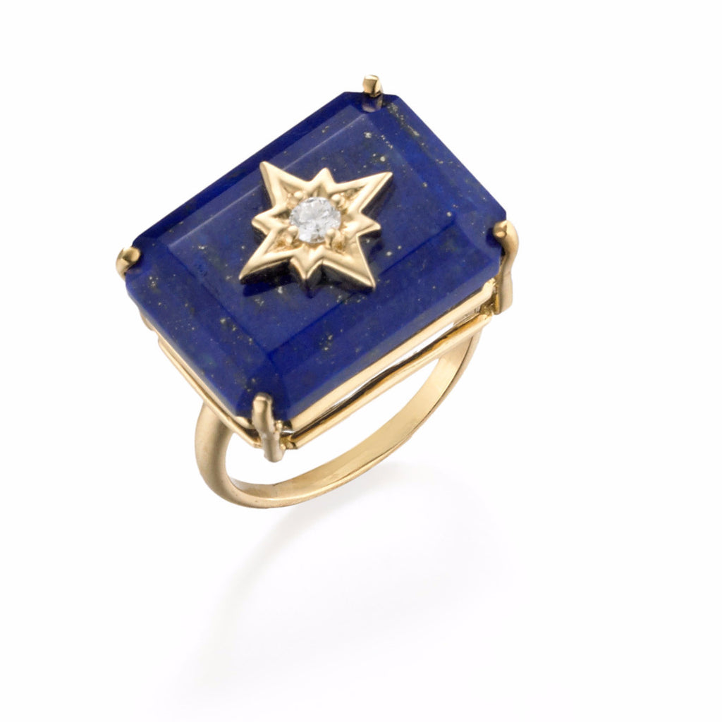 NoLita North Star Cocktail Ring | more gemstone options