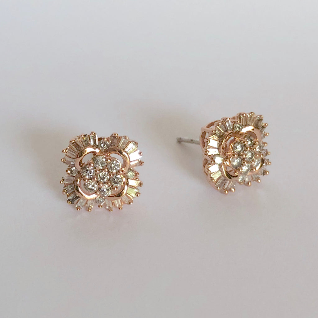 Celestial Diamond Baguette Earrings