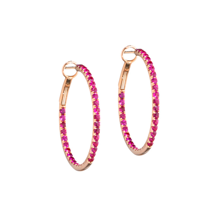 Starlight Gemstone Hoops | more gemstone options