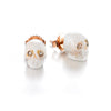 Memento Mori | Coral & Champagne Diamond Earrings