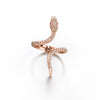 Eden Serpent Ring | Rose Gold