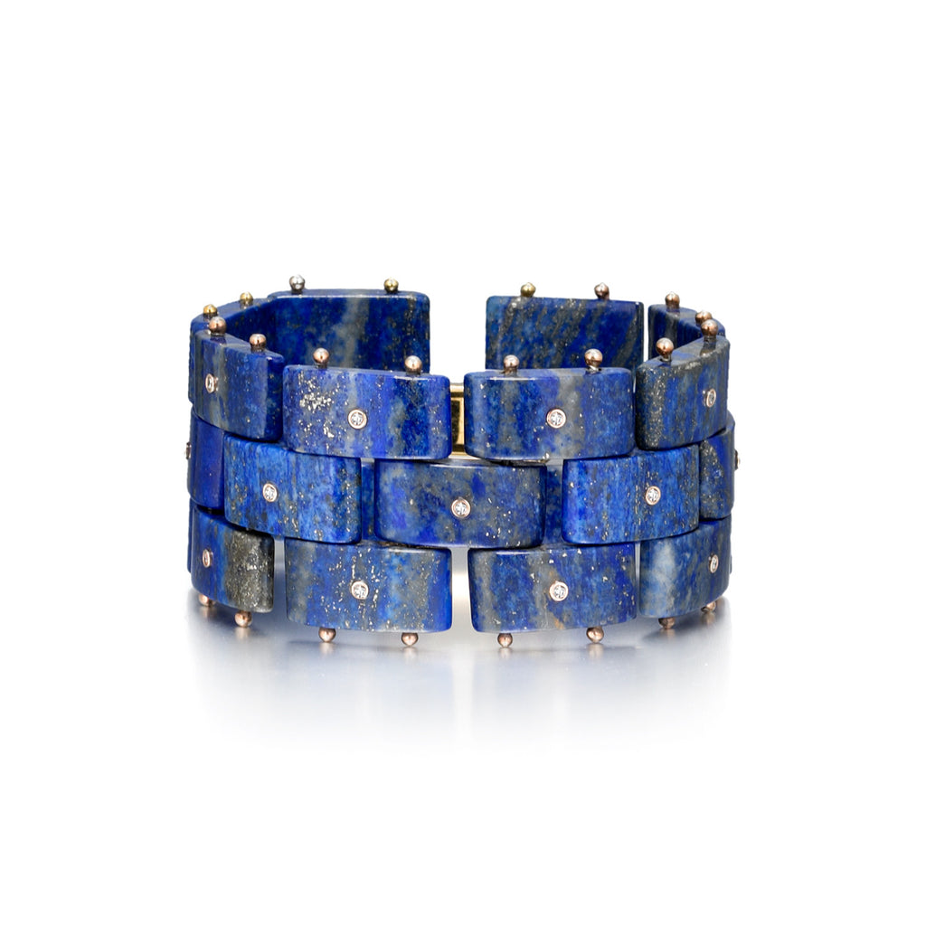 Diamond District Cuff Bracelet | Lapis Lazuli