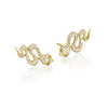 Eden Slithering Snake Diamond Earrings