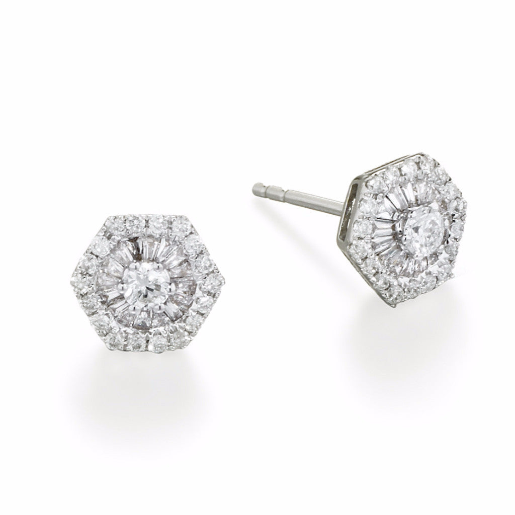 ef diamond earring diamondbaguette baguette chevronstud products earrings wg stud chevron