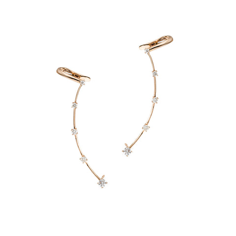 Constellation Diamond Climber Earring | gold color options