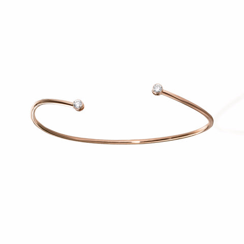 Constellation Twist Diamond Bangle | more gold options