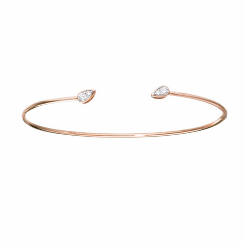 Dew Drop Diamond Bangle | more gold options