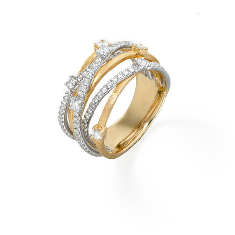 Orbit Triple Diamond Band | more gold options