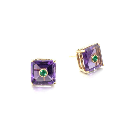 NoLita Cocktail Earrings 8mm | Amethyst