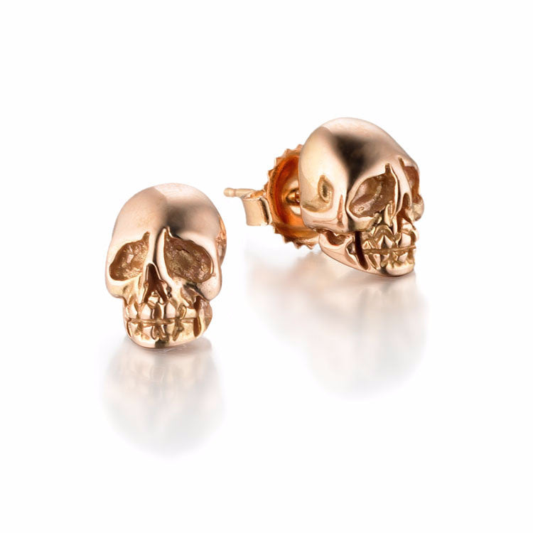 Memento Mori, Skull Stud Earrings | more gold oprions