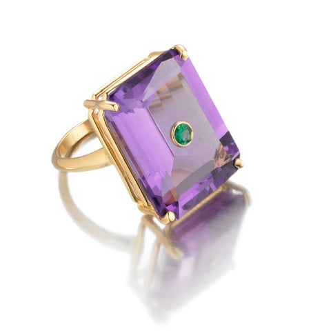 NoLita Cocktail Ring | Amethyst & Emerald