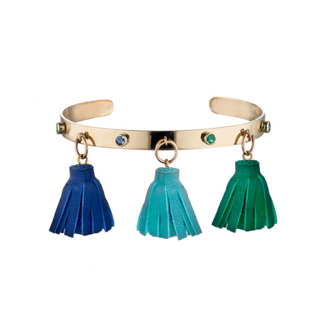 Marrakech Tassel Cuff Bangle | more options