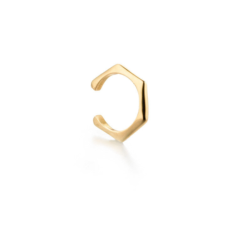 Hexagon Ear Cuff | more gold options