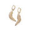 Mobile Feather Diamond Earrings | Small