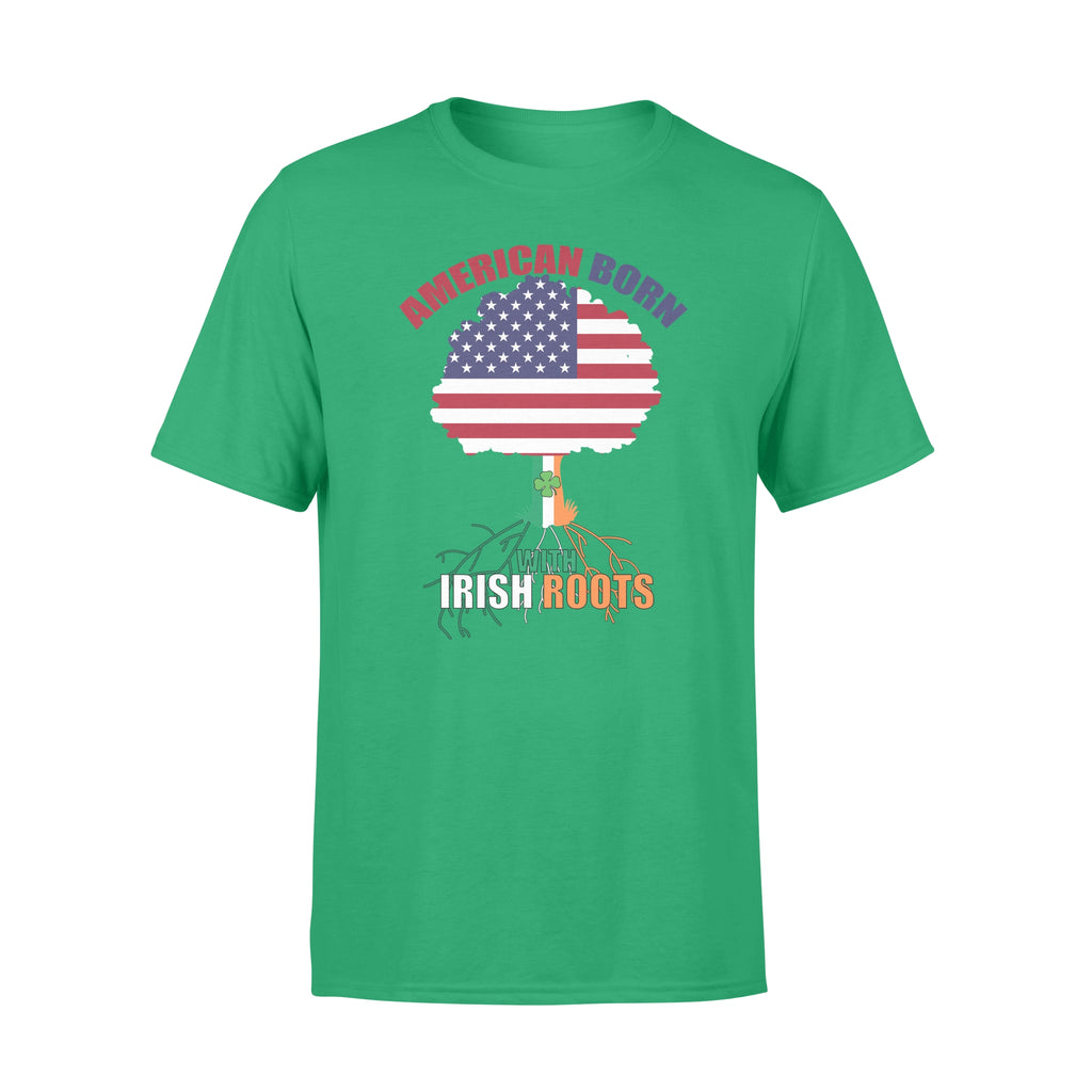 St Patrick S Day American Born With Irish Roots Ultra Cotton T Shirt Folkie Store