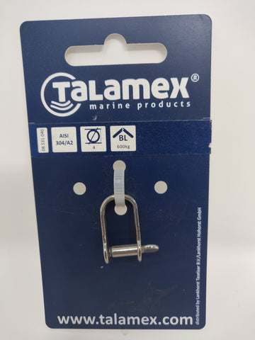 Stainless Steel Captured Pin Strip Shackle Talamex