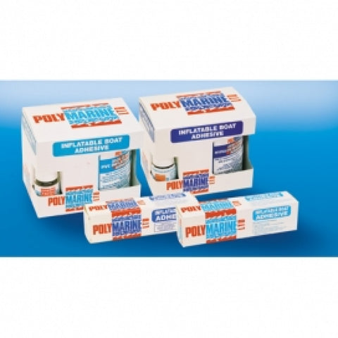 Polymarine Inflatable Boat Adhesive, PVC 2 Part Adhesive - 250ml Tin & 10ml cure