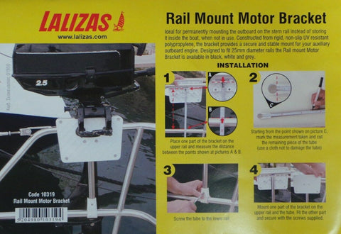 Rail Mounted Outboard Motor Bracket