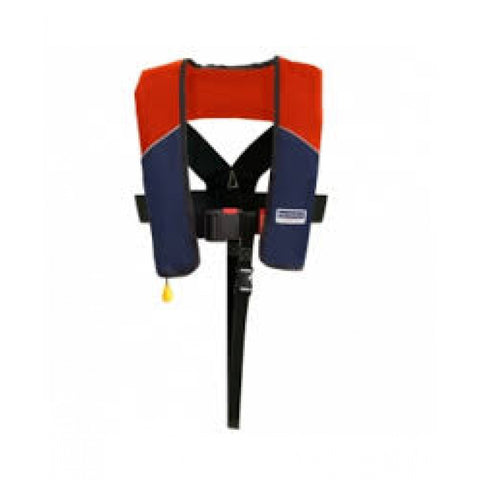 Maindeck 180N Automatic Lifejacket with Harness red/navy ISO 12402-3