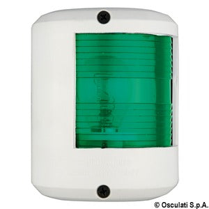 Right green navigation light, Utility78 white 12v