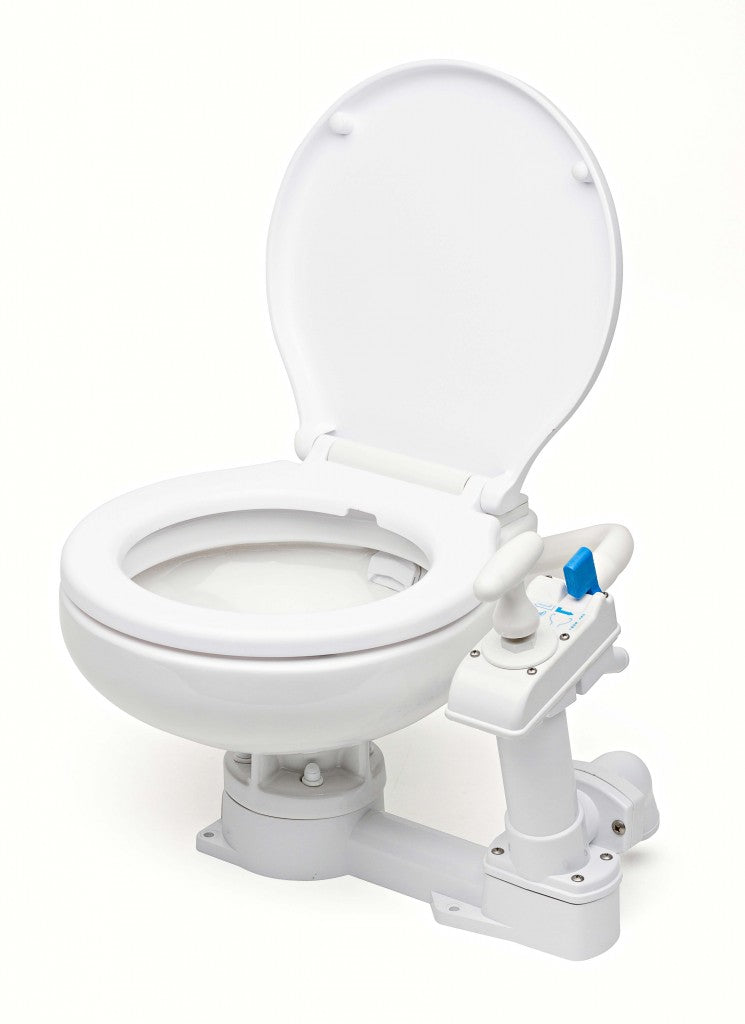 Compact manual toilet plastic board