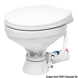 Electric toilet unit compact wooden seat 24v