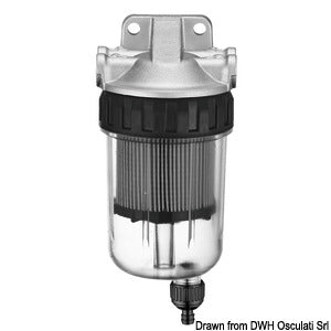 Complete See Through Water Seperating Filter Kit (petrol)