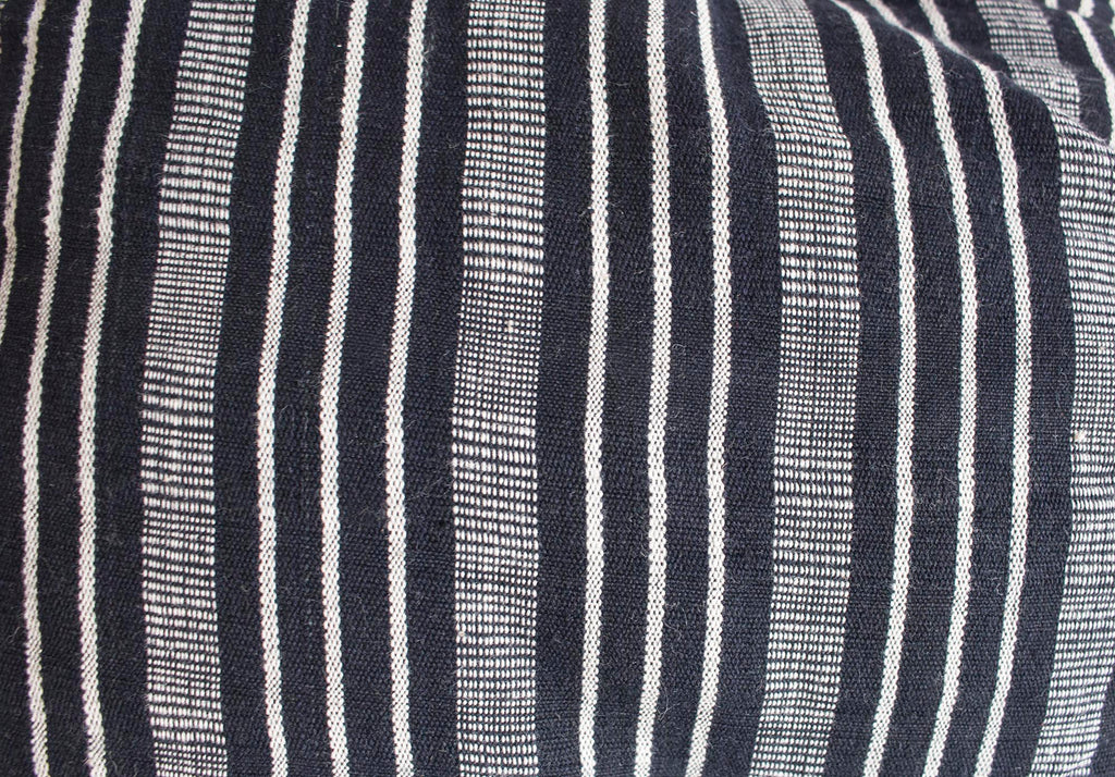Black/White Stripe Mattress Roll