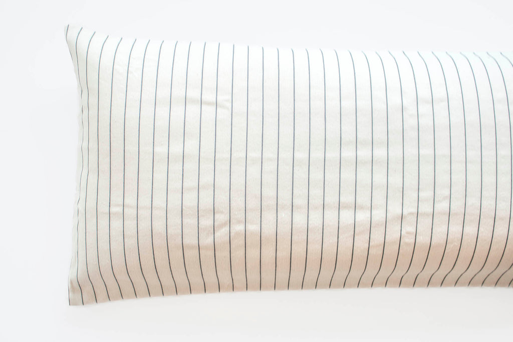 TPE 24 x 60 Natural w Navy Stripe Pillow