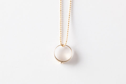 Baby Signet on Soft Ball Chain Necklace
