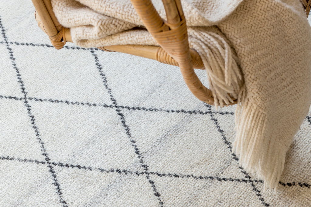 Natural Atlas Berber Knot Rug