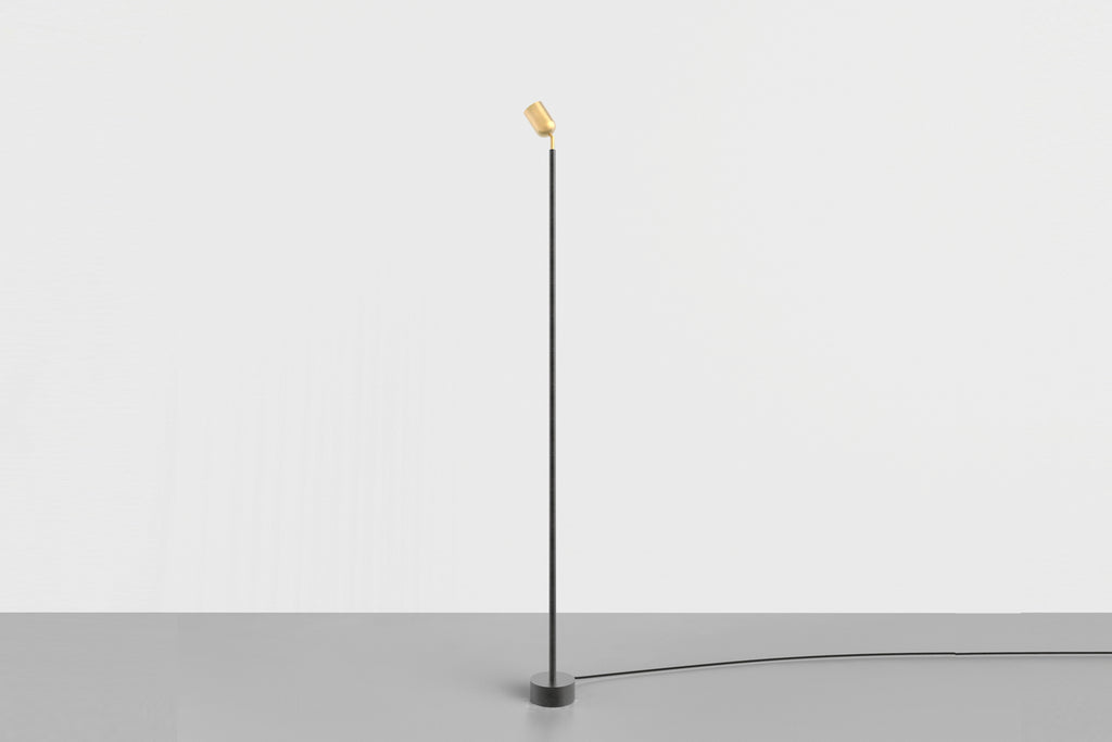 Spot Floor Lamp Medium Brass