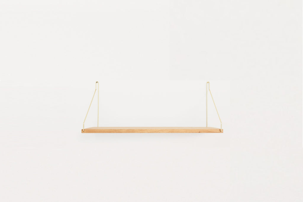 27 x 60 Shelf, Brass Brackets