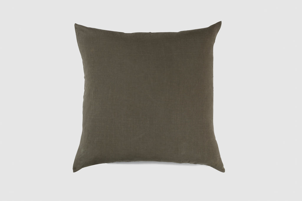 Simple Linen Pillow 22 x 22 Olive